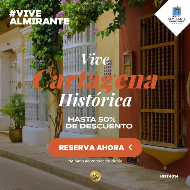 Vive Cartagena Historica -Hotel Almirante Cartagena