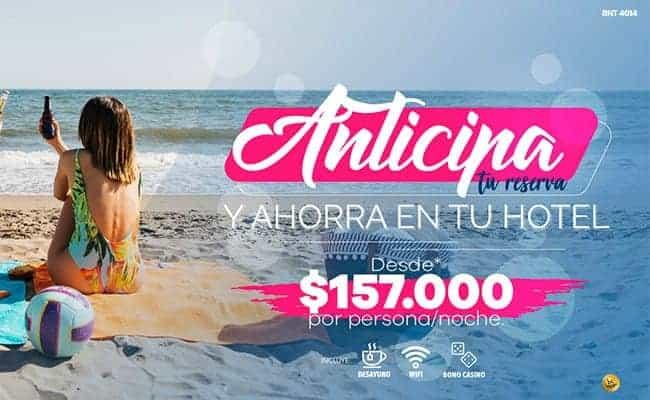 Reserva anticipada - Hotel Almirante Cartagena