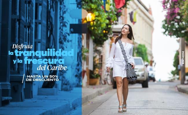 Disfruta la tranquilidad y la frescura del Caribe - Hotel Almirante Cartagena