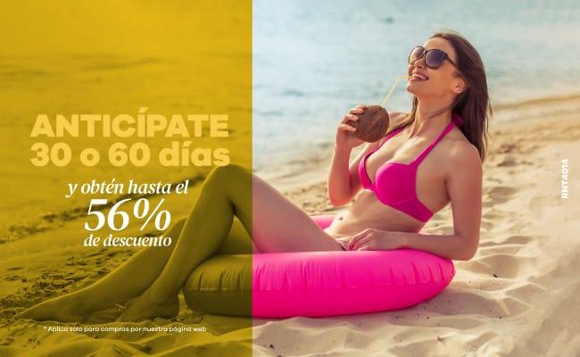 Anticípate con 30 o 60 días y obtén hasta el 56% de descuento - Hotel Almirante Cartagena